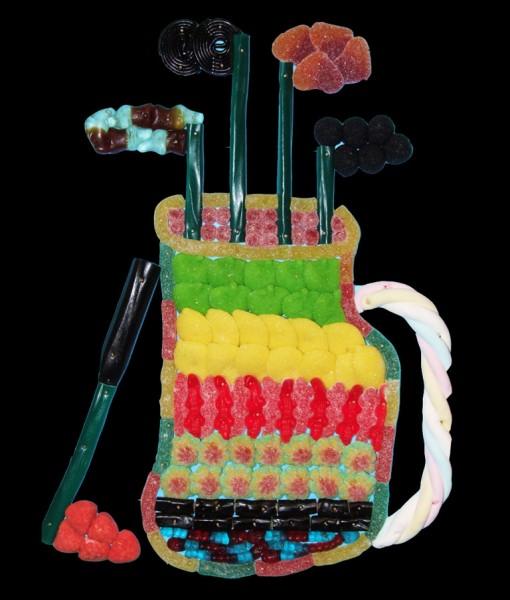 sac de golf en bonbons