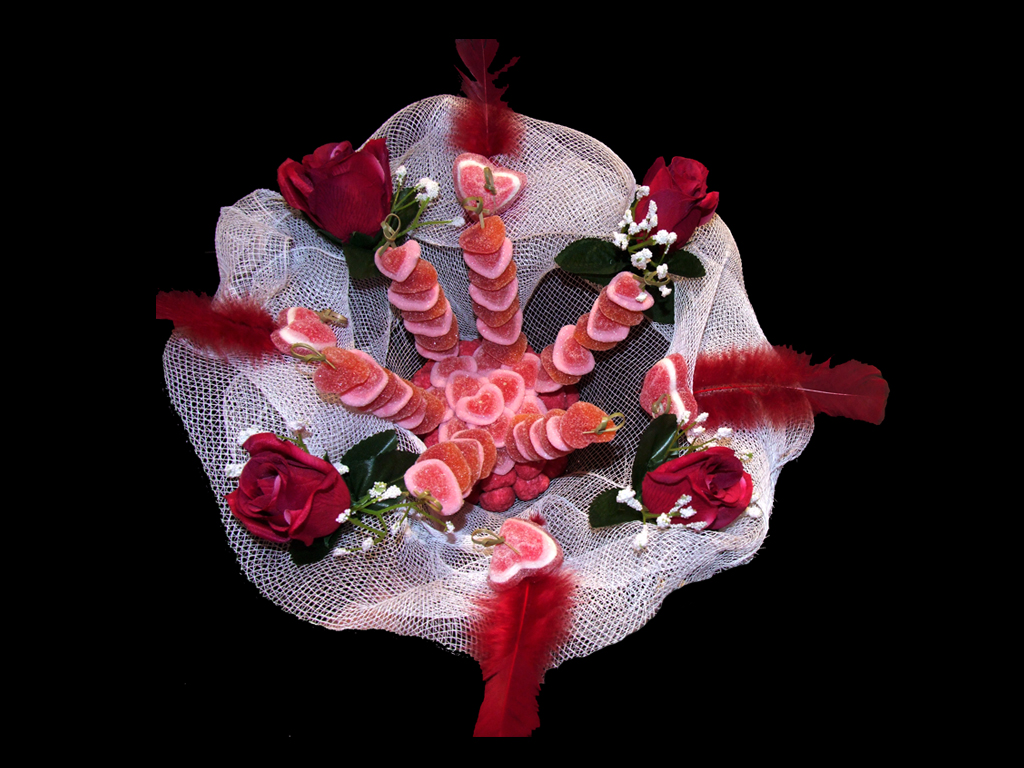 bouquet bonbons rose et blanc missparadis. Black Bedroom Furniture Sets. Home Design Ideas