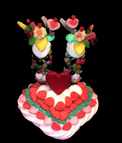 coeur en bonbons
