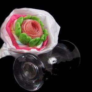 bouquet rose bonbons