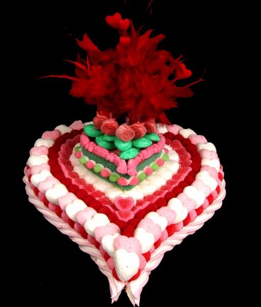 coeur bonbons plumes