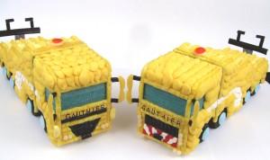 2 camions jaunes en bonbons miss paradis